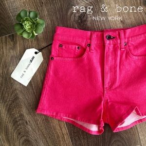 25,26,29 Rag&Bone Pink High Rise Shorts